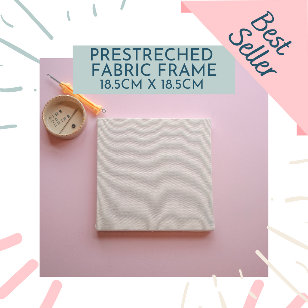 Pre Stretched Frame with Panama Fabric 18.5cm x 18.5cm - Supplies