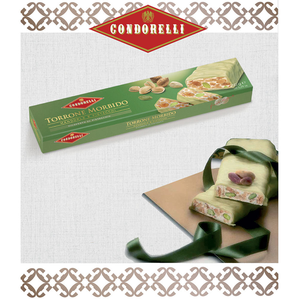 Pistachio Chocolate Coated Almond and Pistachio Torrone 150g