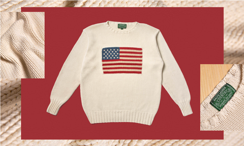 Ralph Lauren USA Print Sweater