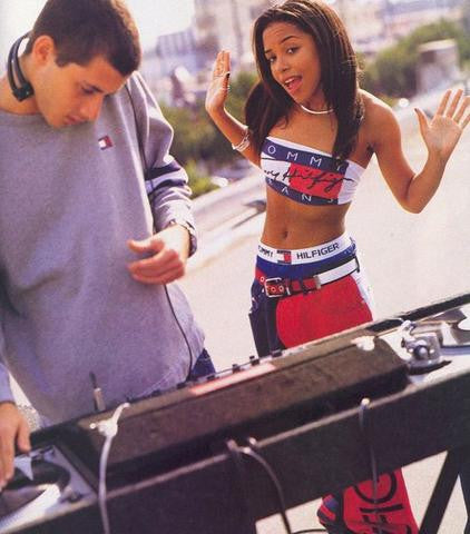 8d7048192 Story behind the picture – Aaliyah & Mark Ronson // Tommy Hilfiger