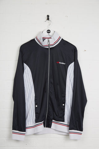 Vintage Lotto Track Jacket - XL Navy Polyester - Thrifted.com