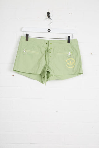 Vintage Adidas Shorts - 30W UK 10 Green Polyester - Thrifted.com