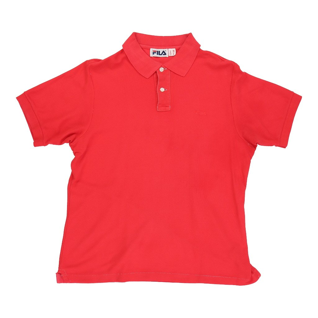 Vintage Fila Polo Shirt - Small Red Cotton - Thrifted.com