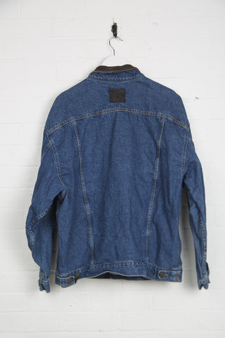 Vintage Marlboro Denim Jacket - XL Blue Cotton - Thrifted.com