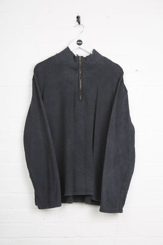 Vintage Calvin Klein 1/4 Zip - XL Black Cotton - Thrifted.com