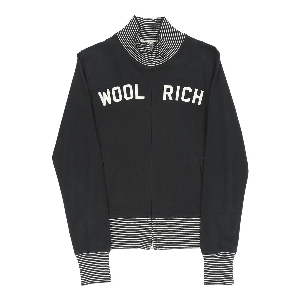 Vintage Woolrich Zip Up - XS Black Cotton - Thrifted.com