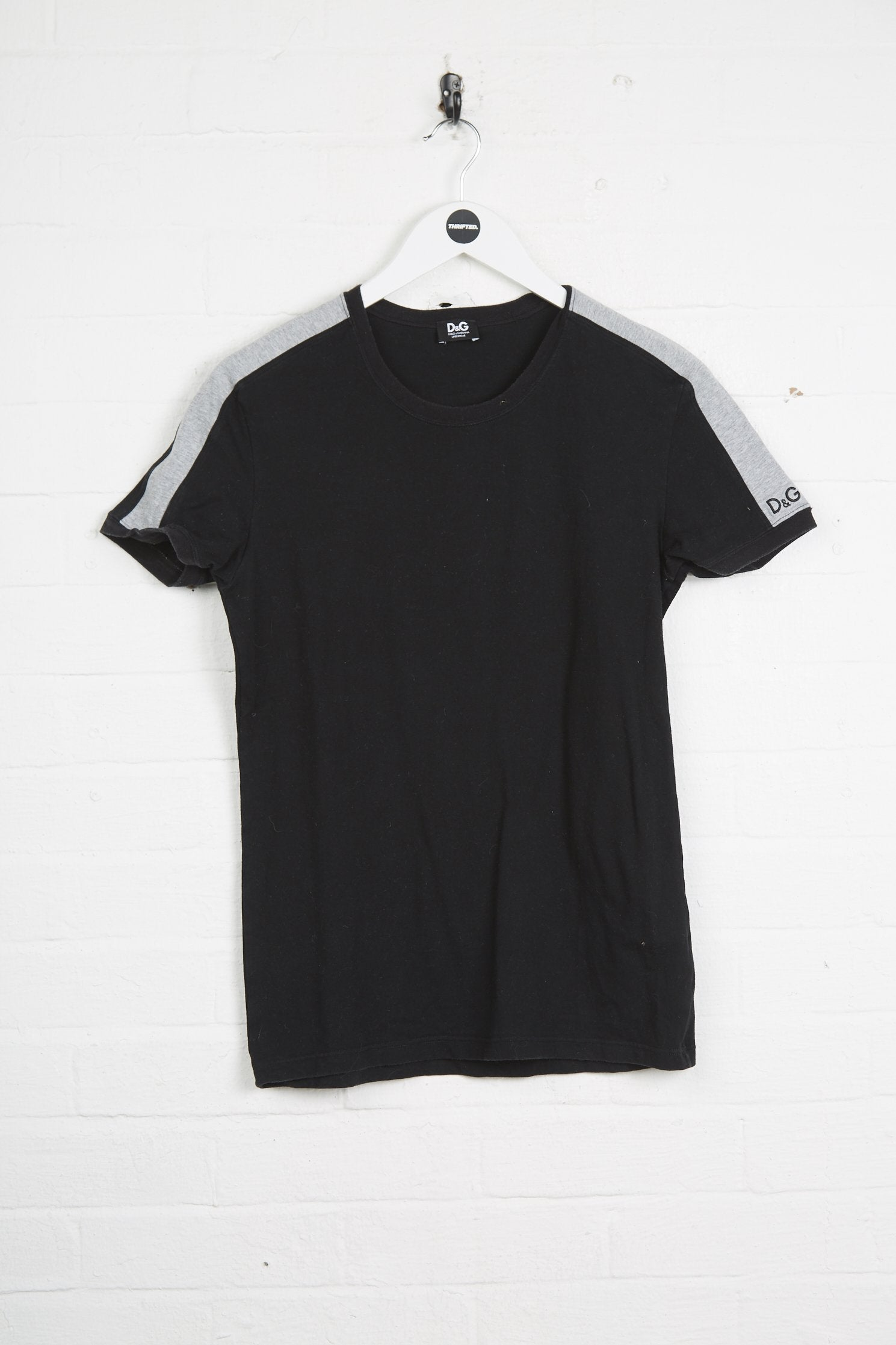 Vintage Dolce & Gabbana T-Shirt - Medium Black Cotton - Thrifted.com