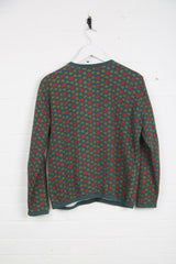 Vintage Best Company Cardigan - Medium Green Cotton - Thrifted.com