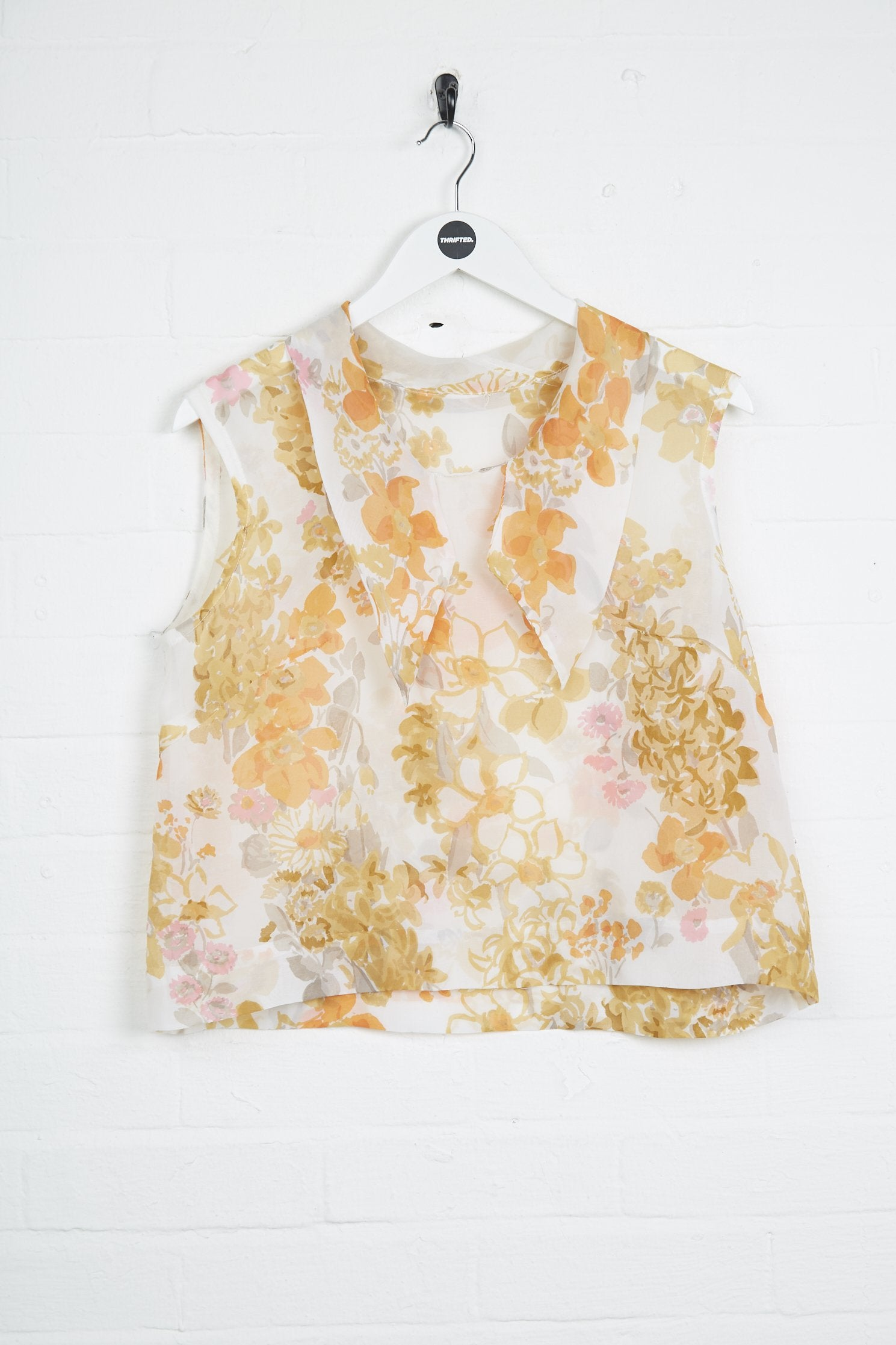 Vintage Top - Large Floral Viscose - Thrifted.com
