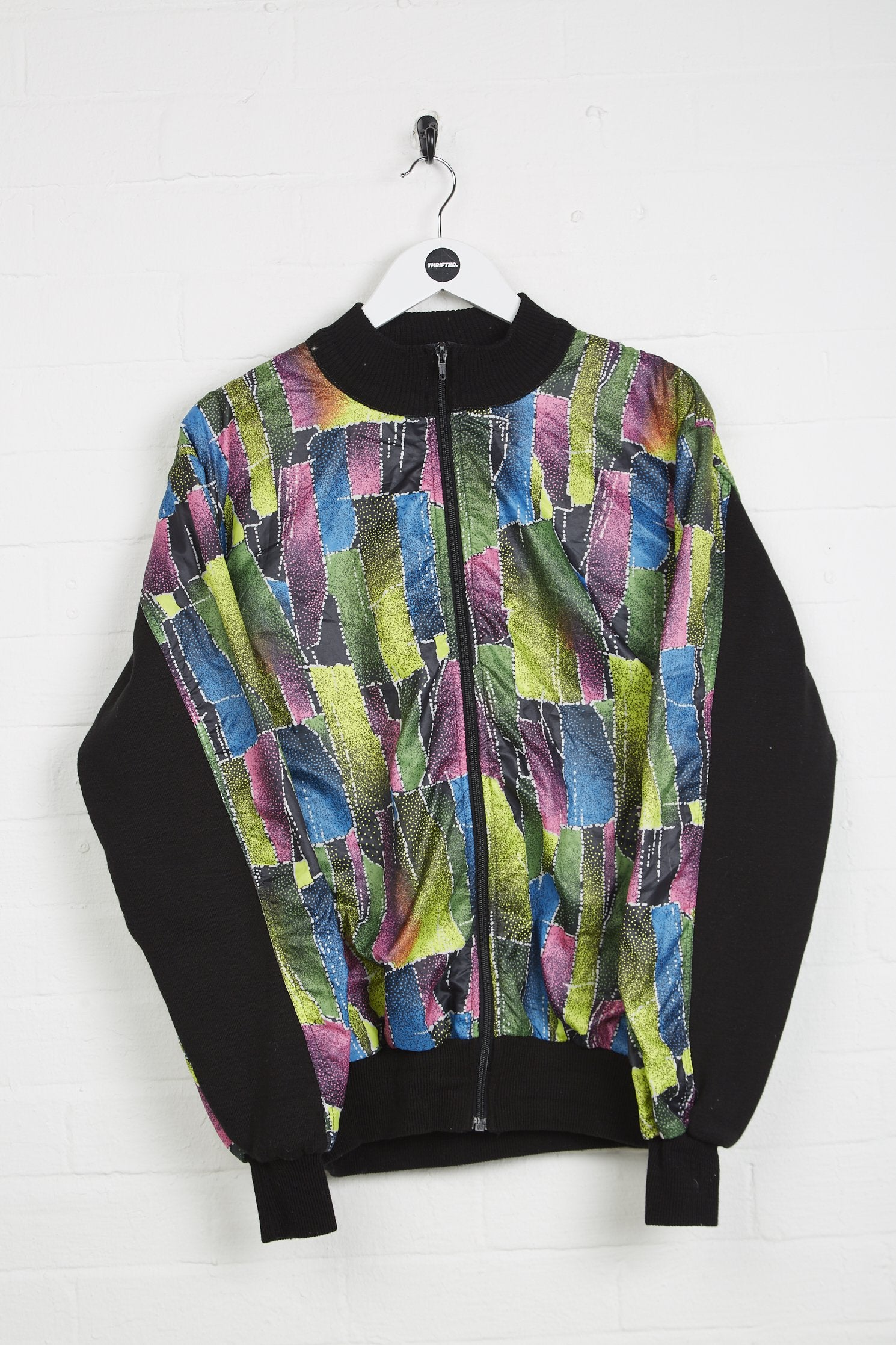 Vintage Trix Jacket - XL Patterned Polyester - Thrifted.com