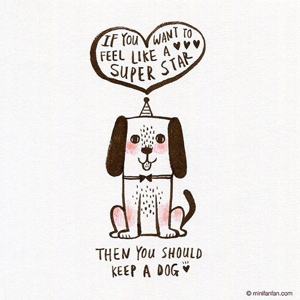 If you want to feel like a super star, then you should keep a dog  ♥ ♥ ♥