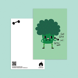 Eat Good and Grow Well The Broccoli Postcard - Minifanfan
