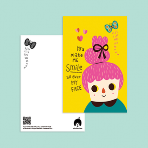 You Make Me Smile All Over My Face Postcard - Minifanfan
