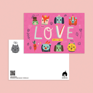 Love Animals Postcard - Minifanfan