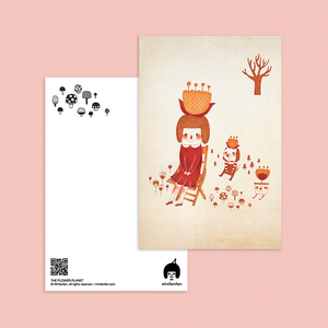 The Flower Planet Postcard - Minifanfan