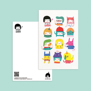 A Series of My Characters Postcard - Minifanfan