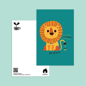 Be Brave and Kind Postcard - Minifanfan