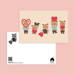 Bear In Love Postcard - Minifanfan