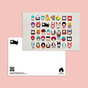 Collection of Shrink Plastic Postcard - Minifanfan