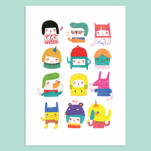 A Series of My Characters Giclée Print - Minifanfan