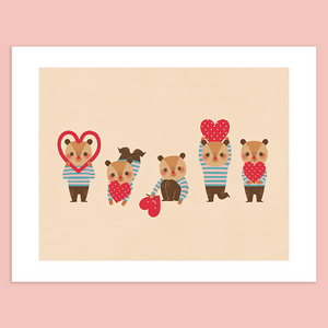 Bear in Love Giclée Print - Minifanfan