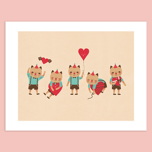Cat in Love Giclée Print