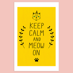 Keep Calm and Meow On Giclée Print - Minifanfan
