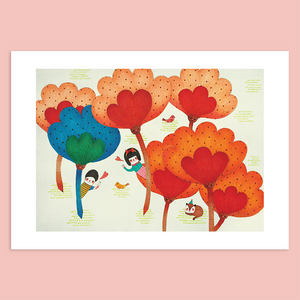Love is Hide and Seek Giclée Print - Minifanfan