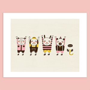 Put Your Hands Up Giclée Print - Minifanfan