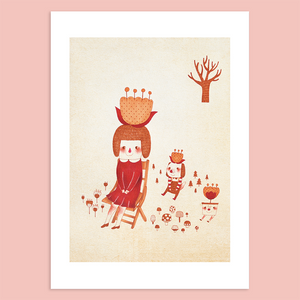 The Flower Planet Giclée Print - Minifanfan