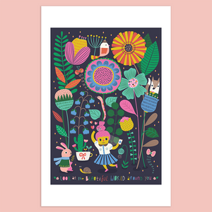 Look at The Beautiful World Around You Giclée Print
