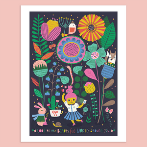 Look at The Beautiful World Around You Giclée Print - Minifanfan