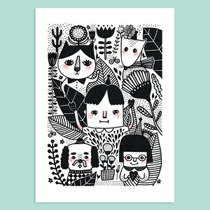 Little Adventure in The Garden Giclée Print - Minifanfan