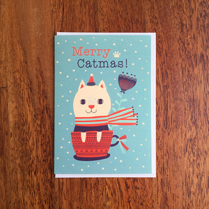 Merry Catmas! Christmas Greeting Card