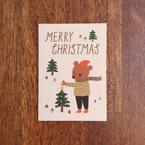 Twinkle Bear Christmas Greeting Card
