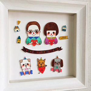 Custom Portrait Illustration - Shrink Plastic - Minifanfan