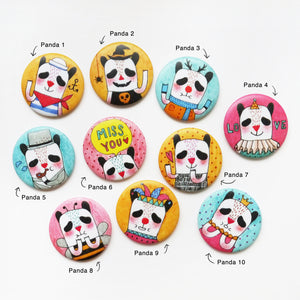 Oh! Panda Button Badge or Magnet