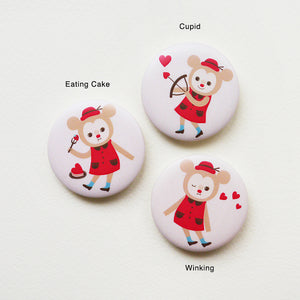 Love Parade Button Badge or Magnet