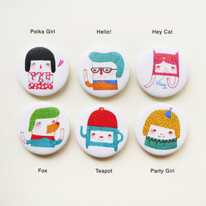 A Series of My Characters Button Badge or Magnet