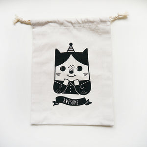 Awesome Cat Drawstring Pouch