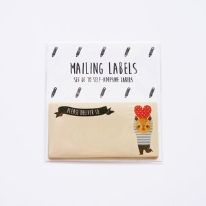 Bear In Love (Hold The Heart Version) Mailing Labels