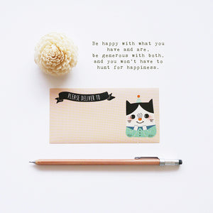 Awesome Happiness Blessing (Cat Version) Mailing Labels