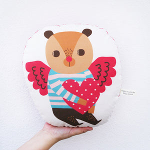 Angel Bear Hugs Love Stuffed Pillow