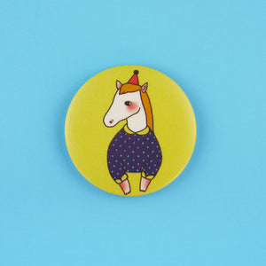 Horse Button Badge or Magnet
