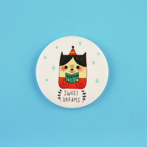 Sweet Dreams Button Badge or Magnet