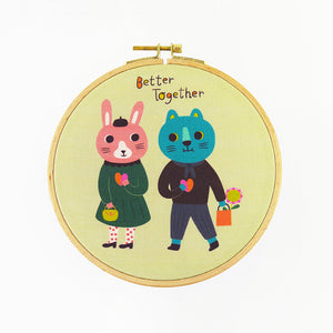 Better Together Hoop Art