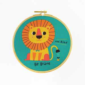Be Brave and Kind Hoop Art