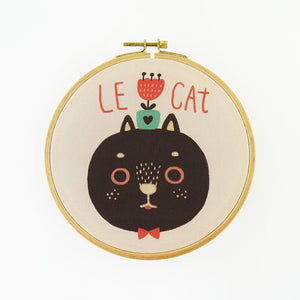 Le Cat Hoop Art