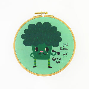 Eat Good and Grow Well Hoop Art