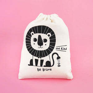 Be Brave and Kind Drawstring Pouch